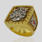Knight Templar Masonic Ring 18k Gold Plated Handcrafted Silver Size by UNIQABLE