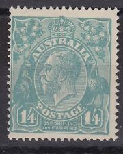 G96) Australia 1920 1/4d Greenish Blue, ASCS 128Bn, with variety