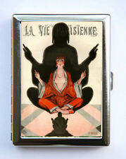 Cigarette Case id case Wallet La Vie Parisienne Buddha Mediation Art Deco
