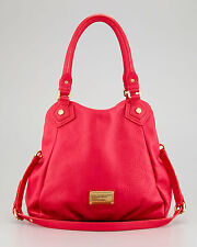 NWT MARC by MARC JACOBS 'Classic Q Fran' Sm Leather Tote Bag Lobster Red AUTHTIC