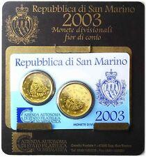 San Marino Minikit 2003 Euro Kursmünzen 20 Cent und 50 Cent in CoinCard