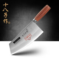 Cleaver Knife Chinese Style Blade Kitchen Chef Knives Rose Wood Handle Full Tang