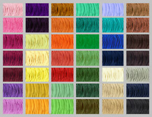 Waxed Cotton Cord 1mm 43 COLOURS Shamballa Thread Jewellery Making Macrame