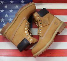 "Timberland 6"" Premium Wheat Leather Nubuck Waterproof Work Boots 10061 Men's 8.5"