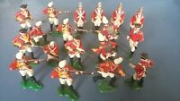 Marx toys Warriors of the World AWI King George British Infantry Soldiers x18