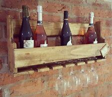 Medium Bottle Wood Wine Rack Holder Storage Stand Organiser Wall Mounted
