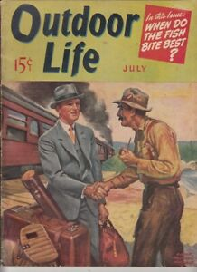 Vintage  JULY 1940 OUTDOOR LIFE magazine hunting fishing   E.F. Wittmack cover