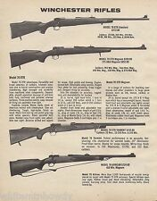1982 Winchester Model 70 XTR, Varmint, 70 African Rifle Ad w/ prices