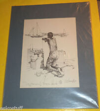 Daydreaming Virgin Islands 1980 Robert Kennedy Limited Signed Print! Nice See!