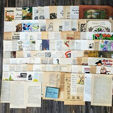 Vintage Book Paper 50 Pieces Collage Journal Supply Mixed Lot Paper Junk