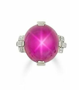 Star pink cabochon oval shape cocktail party engagement ring sterling silver 925