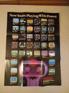 Now You're Playing With Power Rob 1987 Foldable Poster NES Nintendo Manual Only