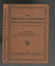 Die Schlachtvieh- und Fleischbeschau Friedrich Hager 1935 Metzger Fleischer