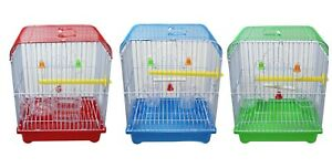 Small Indoor Outdoor Birds Budgie Lovebirds Canary Finch Travel Cages 22 x 27 cm