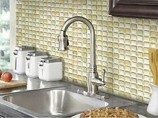 Home Bathroom Kitchen Wall Decor 3D Stickers Wallpaper Tile Beige Backsplash Art