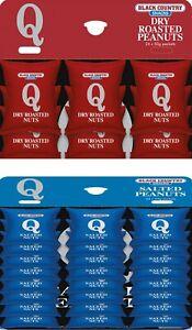 Q Peanuts - 12 x Salted & 12 x Dry roast = 24 x 50g loose Packs of Nuts no card