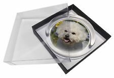 Bichon Frise Dog Glass Paperweight in Gift Box Christmas Present, AD-BF6PW