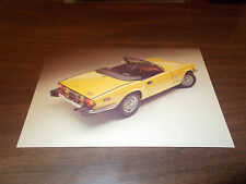 1970s Triumph Spitfire Advertising Postcard / Yellow Car