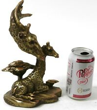 Collectible Hand Made Giraffe Family Bronzed Sculpture Figurine Figure Decorativ