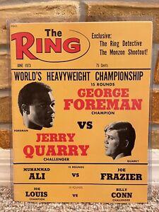 RING BOXING VINTAGE MAGAZINE GEORGE FOREMAN JERRY QUARRY June 1973 MINT UNREAD