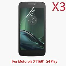 3X PET HD Soft Clear Screen Protector Film For Motorola Moto G4 PLAY