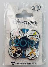 Official Disneyland Disney 2019 Spinning Spinner Mickey Minnie Pin Trading Badge