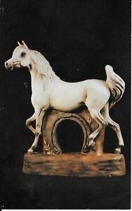 Western Distilling Arabian horse decanter postcard