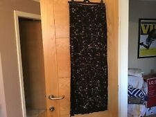 River Island Size 10  Long Maxi Black Floral Print Skirt Side splits NEW RRP £22
