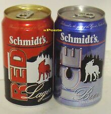 SCHMIDT'S NORTHWEST SPIRIT RED WOLF LAGER+WHITE ICE BEER CANS LACROSSE,WISCONSIN