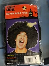 Super Afro Wig Totally Ghoul.  Brand New in Package. Black.