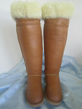 UGG DEVANDRA OVER THE KNEE LEATHER BOMBER SHEARLING WOMAN BOOTS SIZE US 9