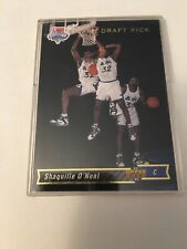 New listing Shaquille O'Neal Rookie Card 1992 Upper Deck #1 Draft Pick Card, Hot! HOF!
