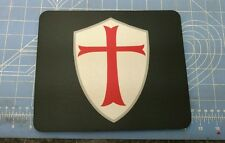 Templar Knights Shield Christian patriotic mouse pad