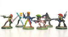 Eldar Harlequins Warhammer 40K metal miniature figure models x 6 Aeldari