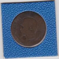 10 centimes Frankreich 1857 W Lille Napoleon III France seltener