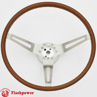 "15"" Flashpower GM Classic Wood Steering Wheel Original Restoration Muscle Car"