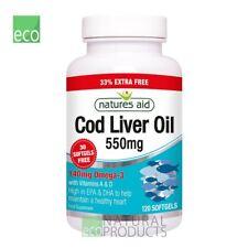 Natures Aid  Omega-3 Cod Liver Oil 550mg 120 Softgels