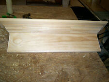 72 INCH WALL SHELF, 6 INCH SKIRT FOR PEGS OR HOOKS, PINE, HAND BUILT, UNFINISHED