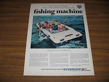 1970 Print Ad Evinrude 19 Ft Sportsman Boats Barracuda Fishing Milwaukee,WI