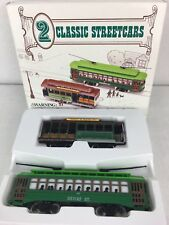 HO SCALE SET OF 2 CLASSIC STREET CARS TROLLY CARS NEW OLD STOCK IN ORIGINAL BOX