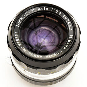 V'tage Nippon Kogaku Nikon Nikkor 24mm f/2.8 N Auto PRE-AI Nr Mint. See Tst Imgs