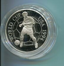 Jamaica 25 Dollars Football World Cup USA 1994 1944 Silber PP (M1434)