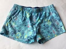 "GIRLS SHORTS.""OLD NAVY"". BLUE WITH OWL DESIGN -28"" WAIST. 100% COTTON"