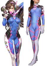 Overwatch Game D. Va DVA Costume Halloween Cosplay Zentai Suit Tight Body Suit