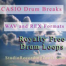 CASIO Drum Breaks WAV & REX Format Samples Reason Sounds, ROYALTY FREE LOOPS CD