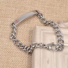 Medical Emergency Alert ID Bracelet Stainless Steel Wristband