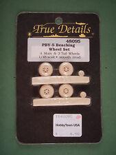 True Details 1/48 Resina Set De Conversión pby-5 playa juego de ruedas