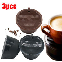 3× Stainless Steel Coffee Capsule Cup Reusable Refillable Pod For Coffee Machine