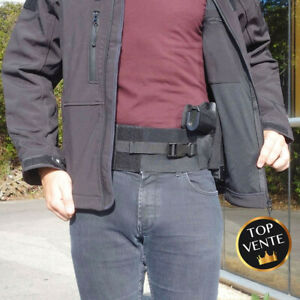 Ceinture holster noir droitier port discret gendarmerie police gign