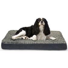 "petco gray & cream tufted memory foam dog bed 39"" l x 35"" w | ebay"